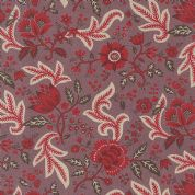 Moda Ville Fleurie by French General - 4739 - Chatenoy Le Royal, Red Floral on Lavender  - 13762 16 - Cotton Fabric